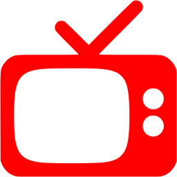Tv icon png. Red free appliances icons