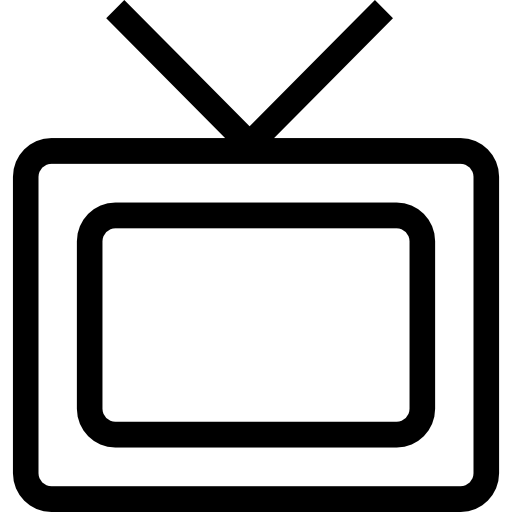 Tv outline png. Monitor icons free download