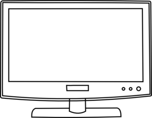 Vector screen outline. Tv png image