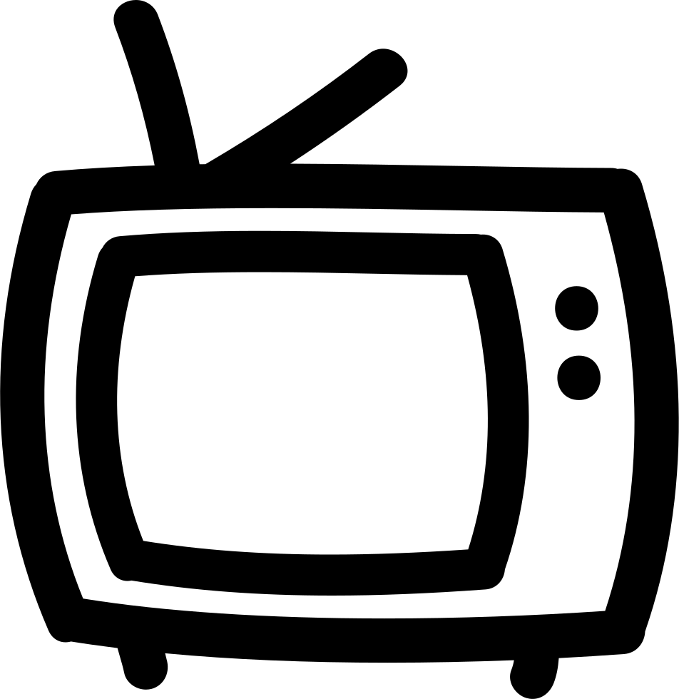 Tv outline png. Hand drawn svg icon