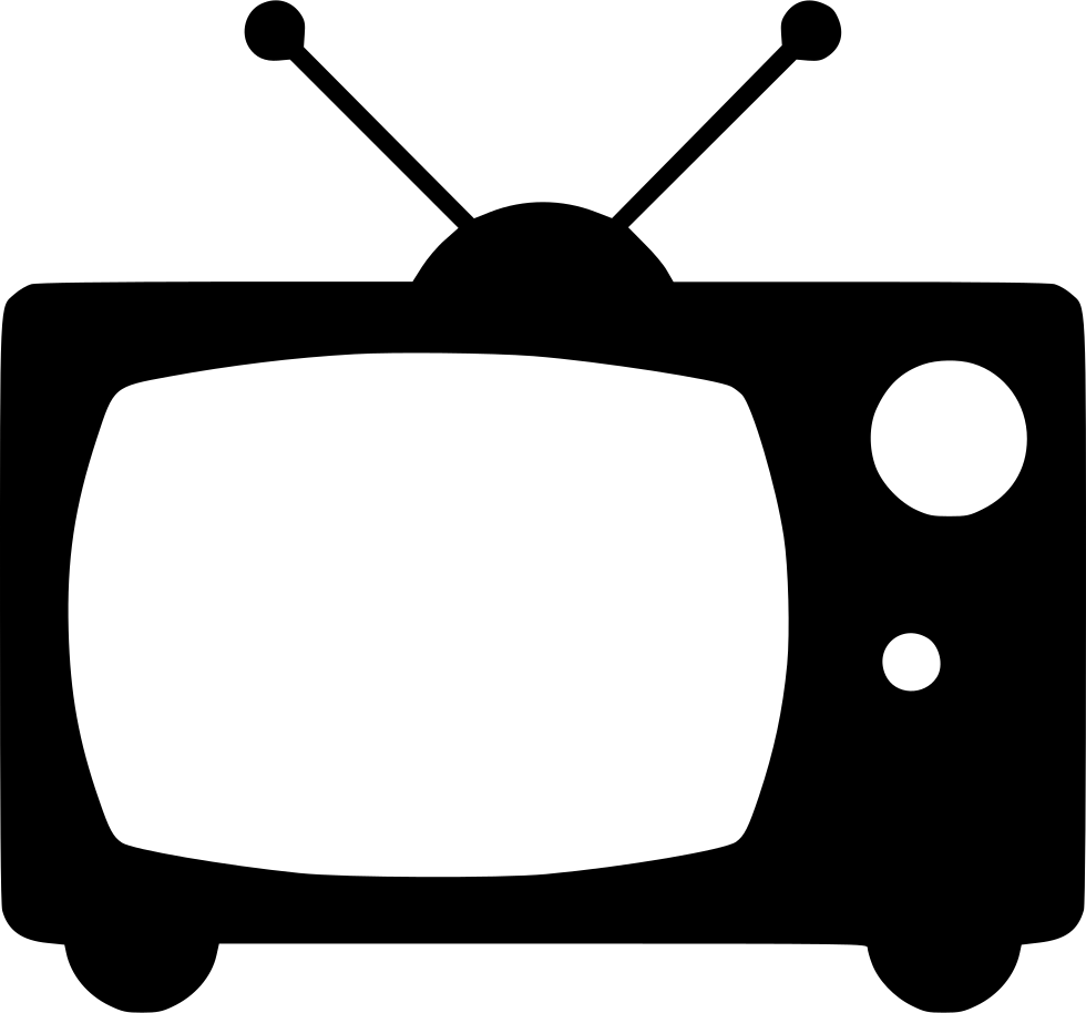 Tv png icon. Television old broadcast svg