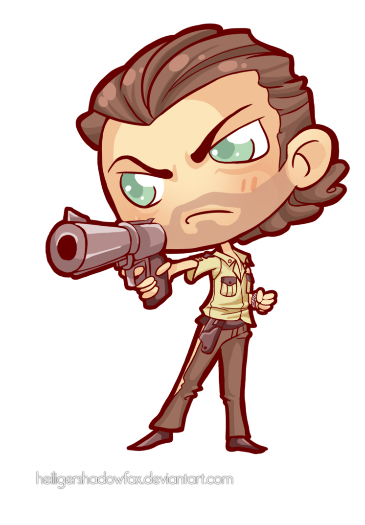 Twd drawing. Commission the walking chibi