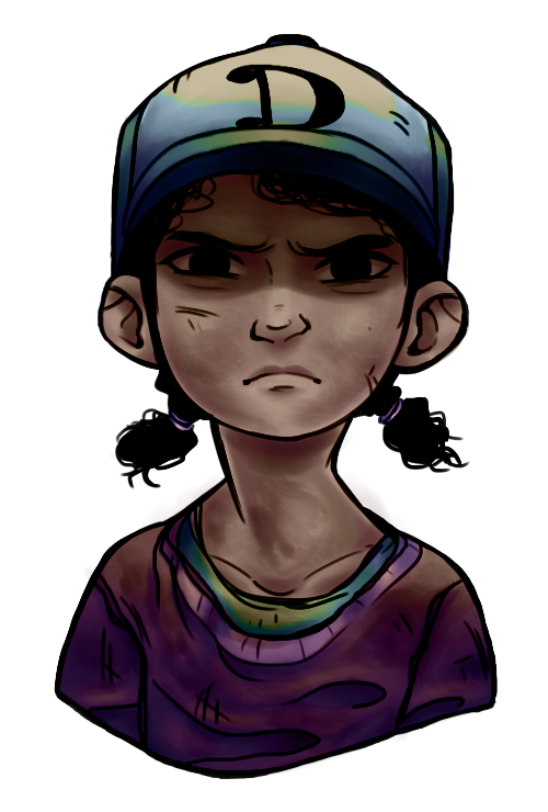 Twd drawing clementine. By potatoesrawesome on deviantart