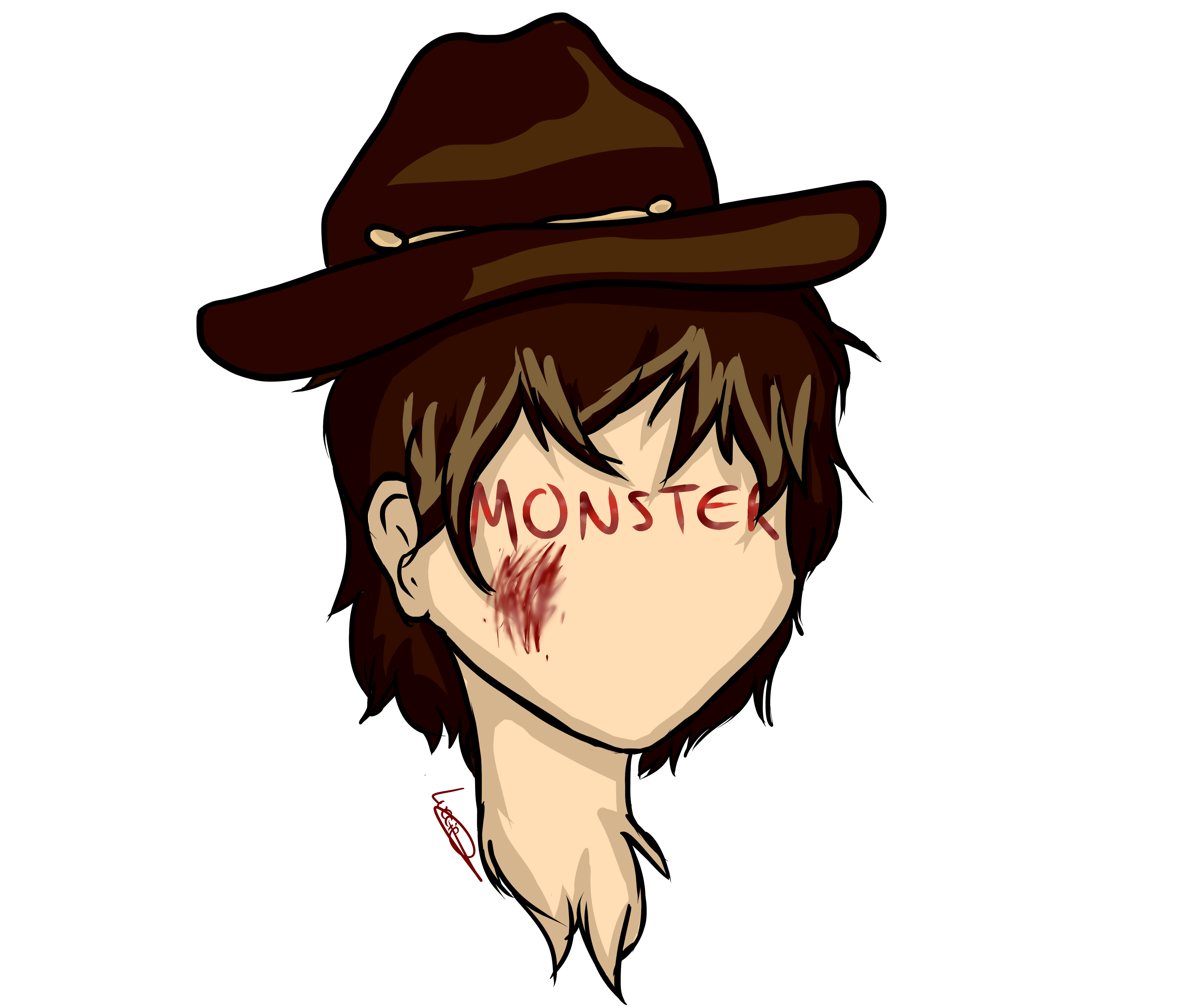 Twd drawing rick grimes. Just another monster carl