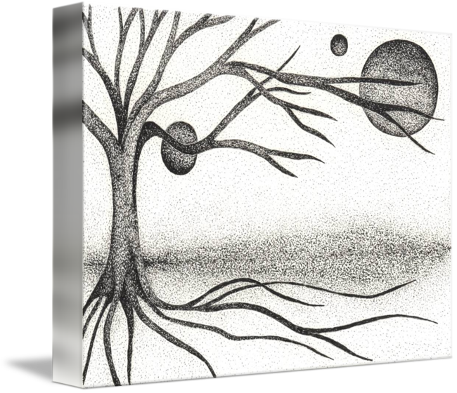 Twig drawing pen. Ink ilustration by boug