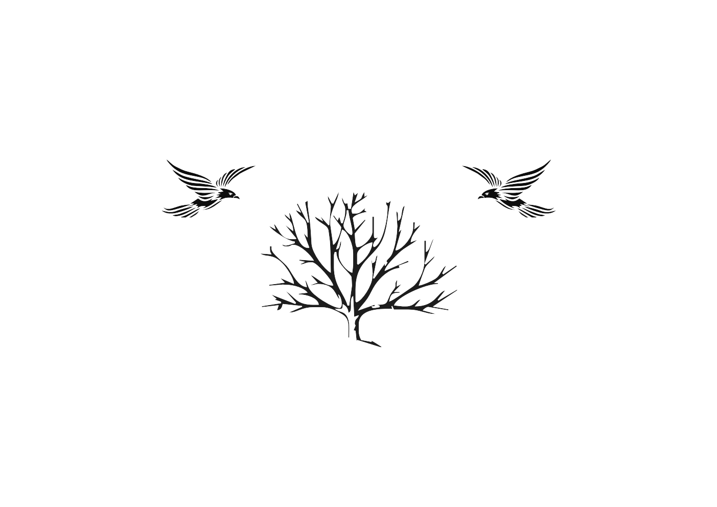 Twig vector. House design for a