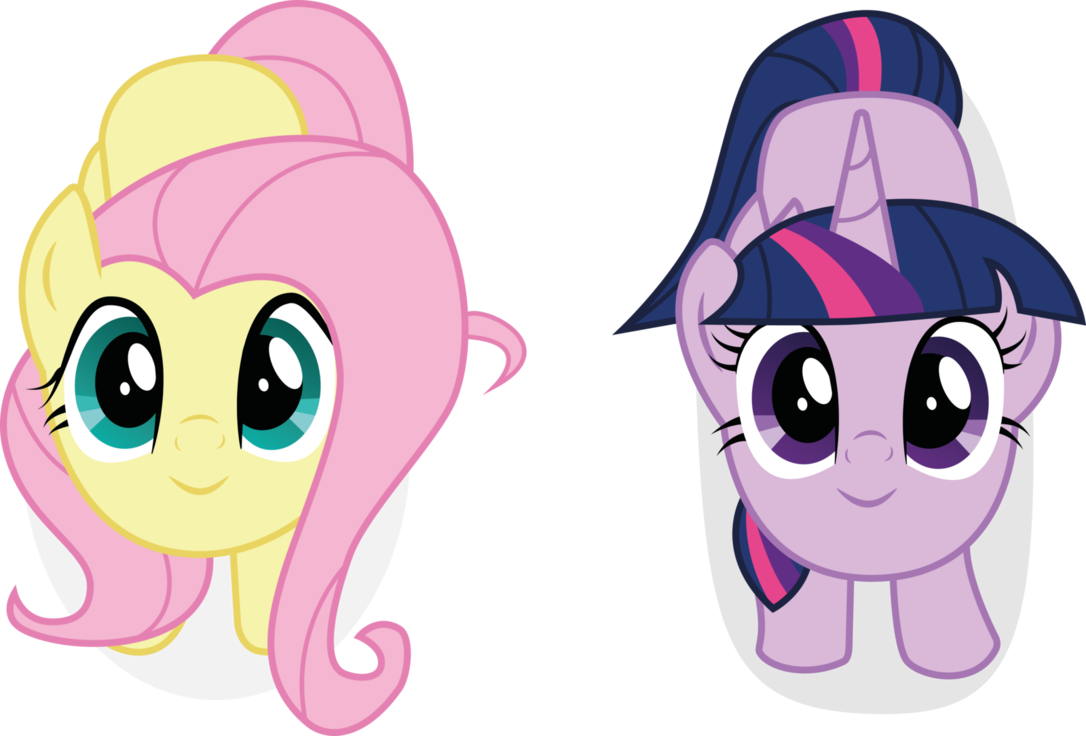 Twilight vector fluttershy. Cute and sparkle by