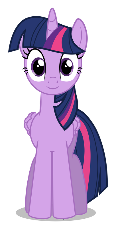 Twilight vector front. Sparkle frontview by azur