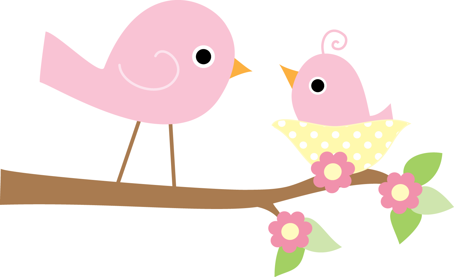 Twin drawing bird. Clipart de lindos pajaritos