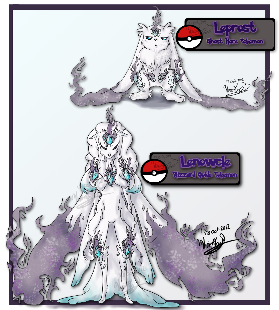 Twin drawing ice. Ghost bunny fakemon by