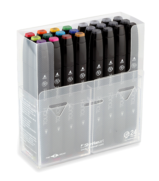 Twin drawing pen. Marker gift sets from