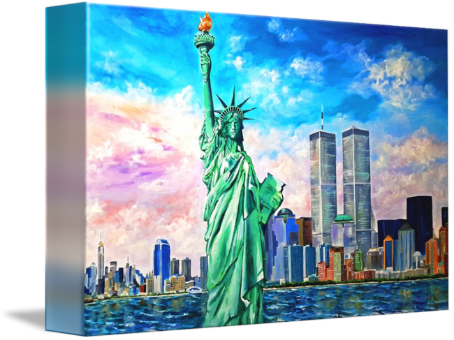 Twin towers and statue of liberty png. Ny manhattan by galina