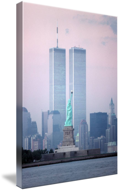 Twin towers and statue of liberty png. World trade center by