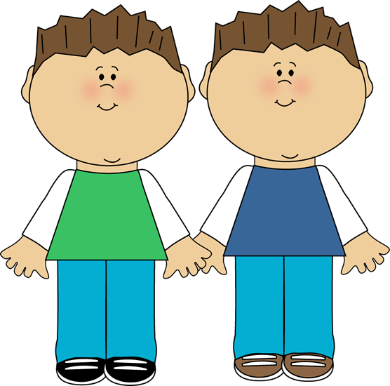 Brothers clipart cool. Identical twins