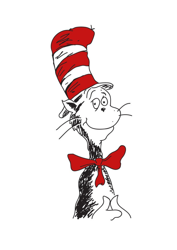 Twins clipart cat in hat. Dr seuss the at