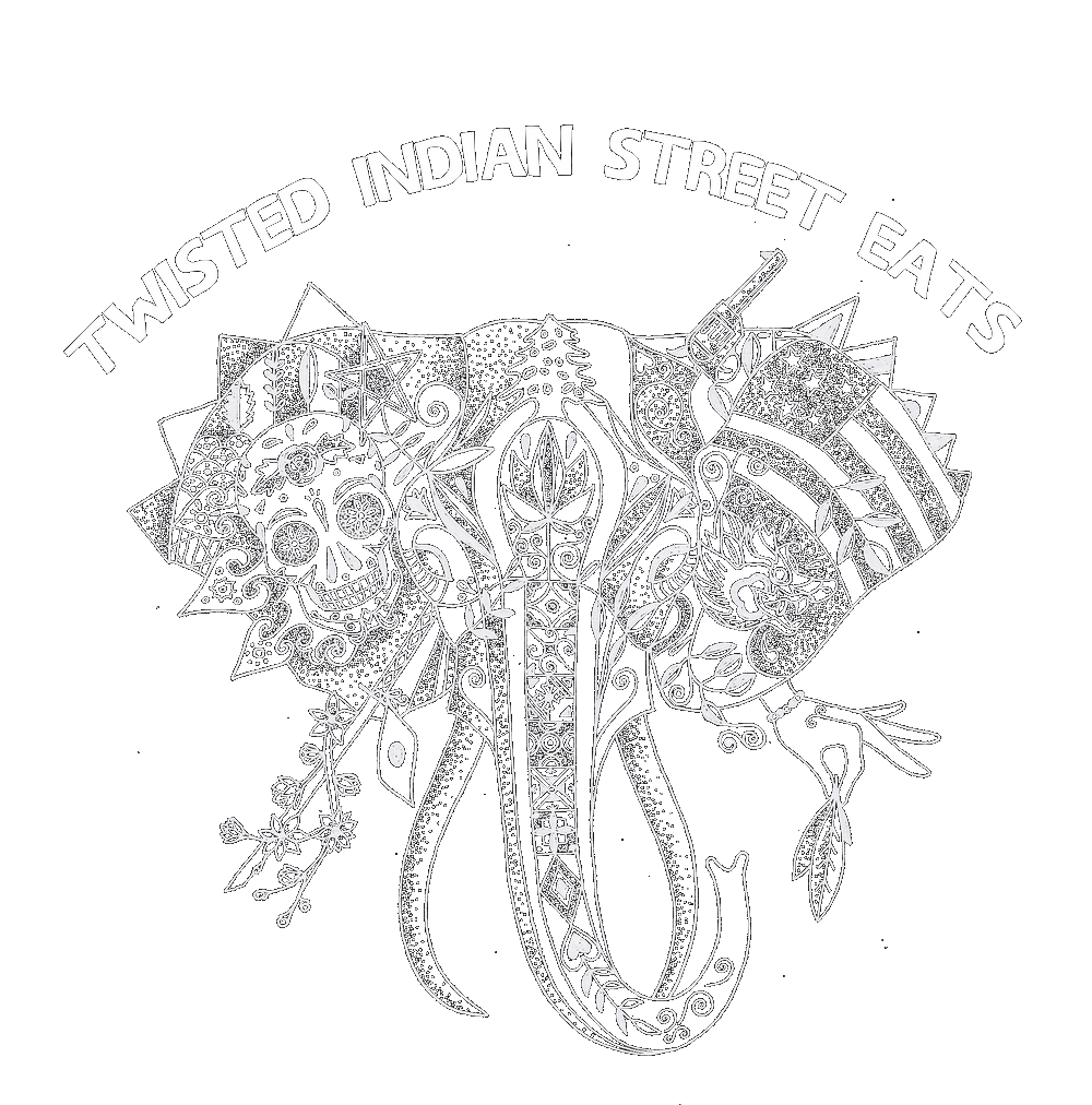 Twisted drawing. Indian street eats
