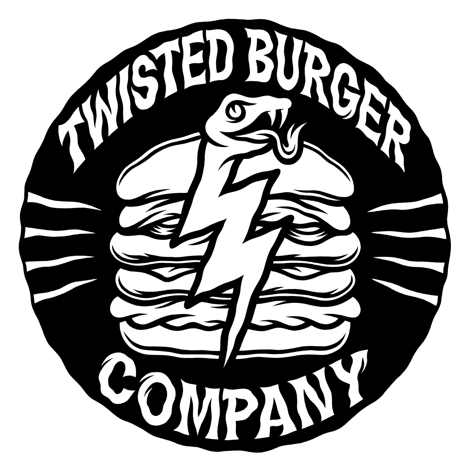 Twisted drawing. Burger company