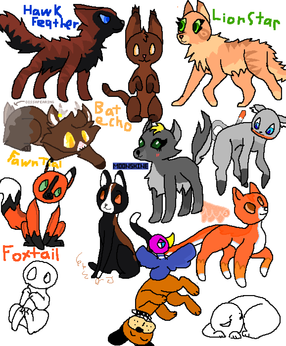 Twisted drawing. Pixilart warrior cats and