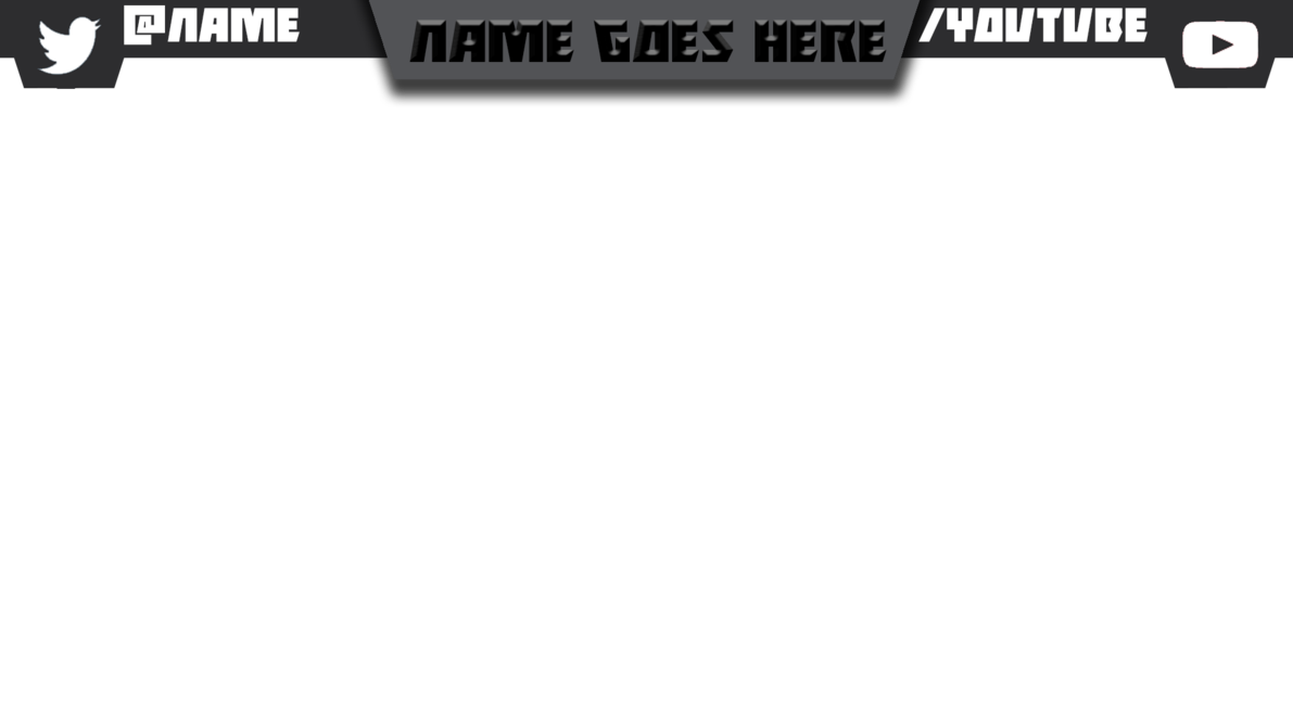 Youtube video overlay png. Simple twitch banner by