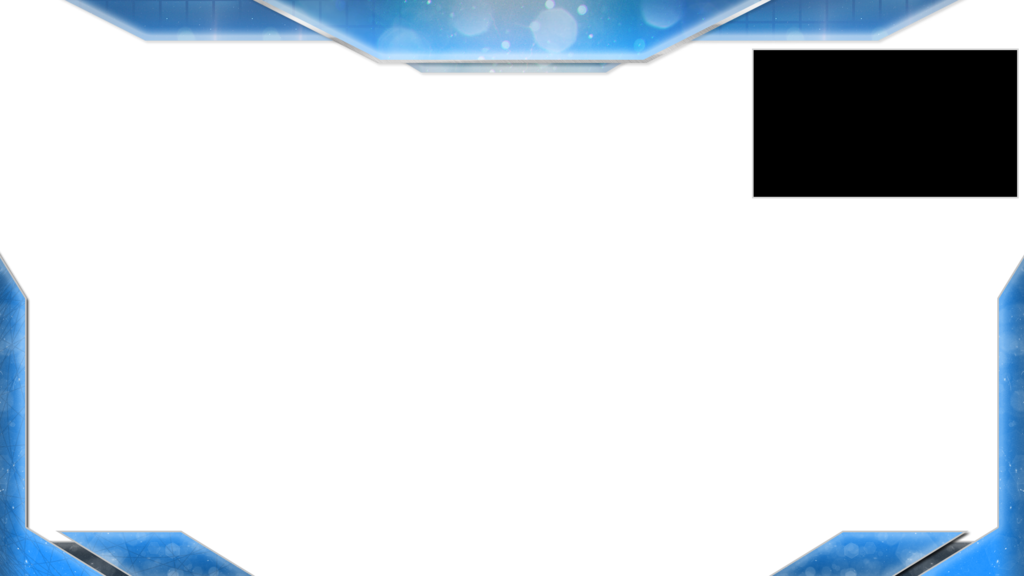 Overlay template png. Hightek blu twitch by