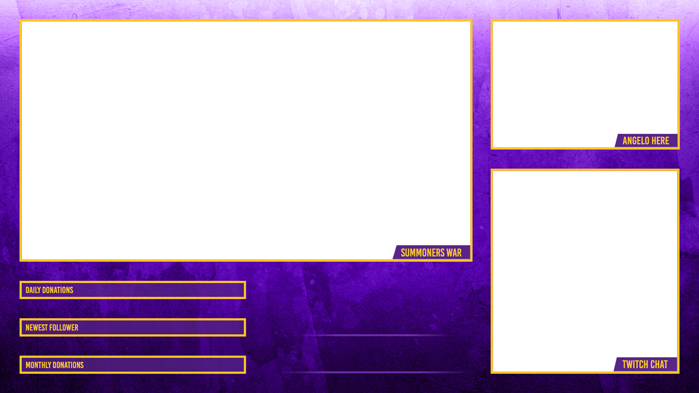 Twitch overlay png. And panels on behance