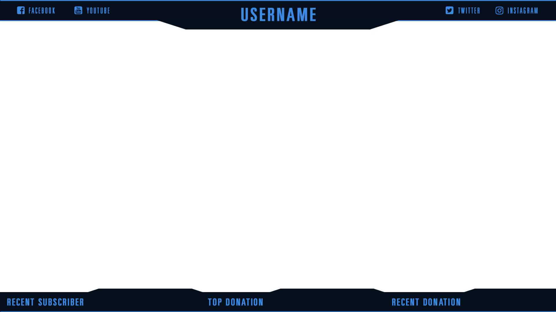 Twitch overlay png. Flat black overlays graphics