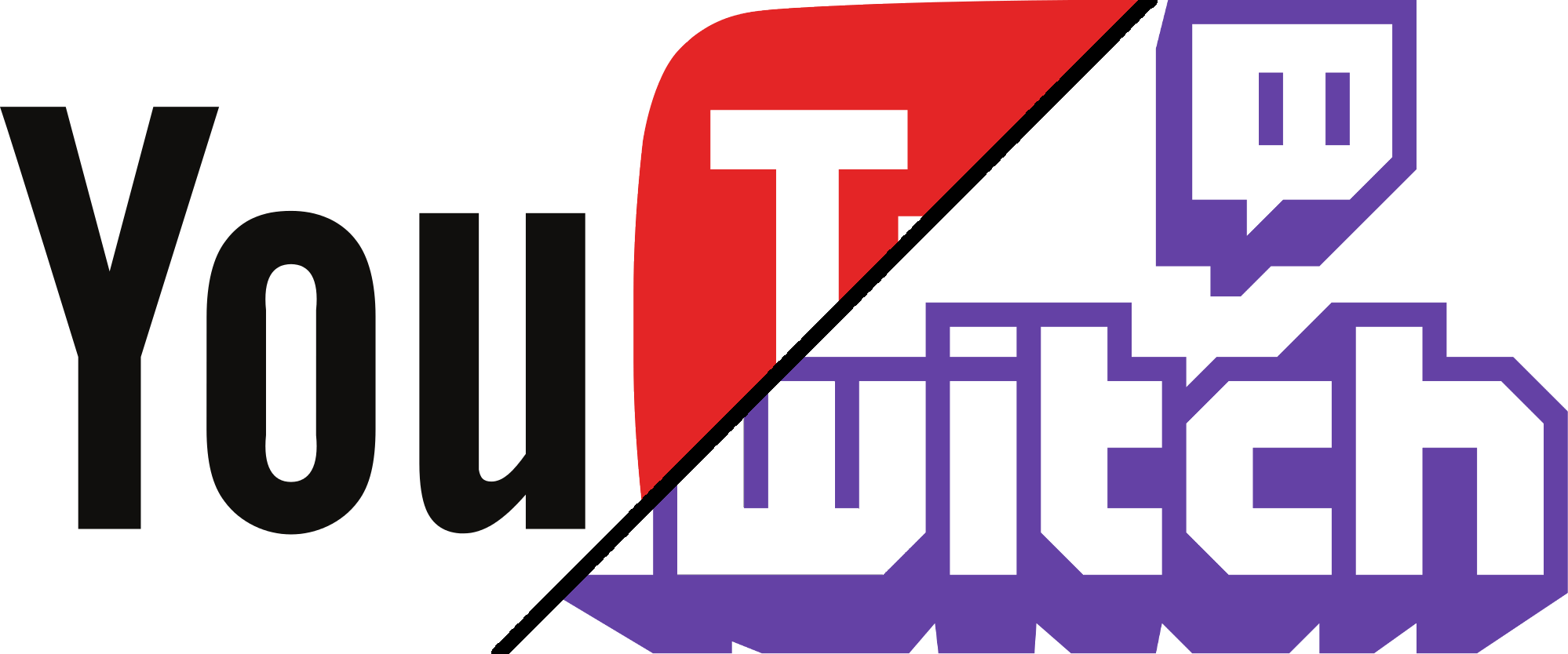 Twitch png logo. New and youtube feature