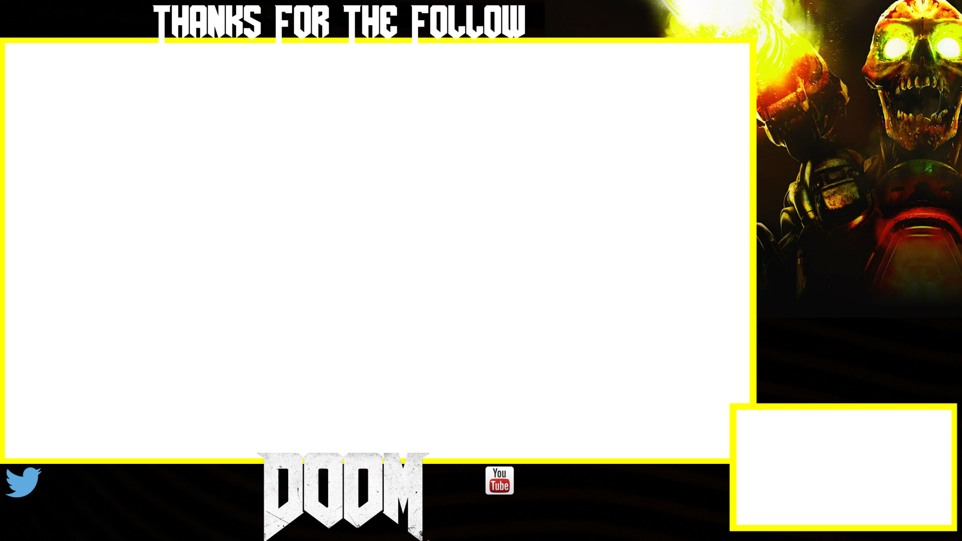 Twitch webcam overlay png. Doom free overlays with