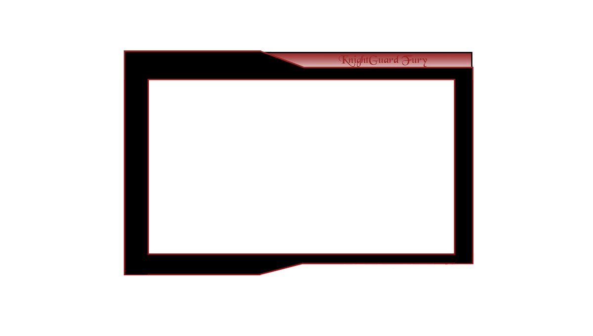 Twitch webcam overlay png. Knight guard fury on
