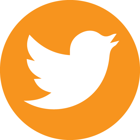 Twitter circle icon png. Orange social icons by