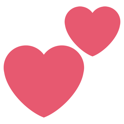 Twitter heart png. Two hearts emoji for