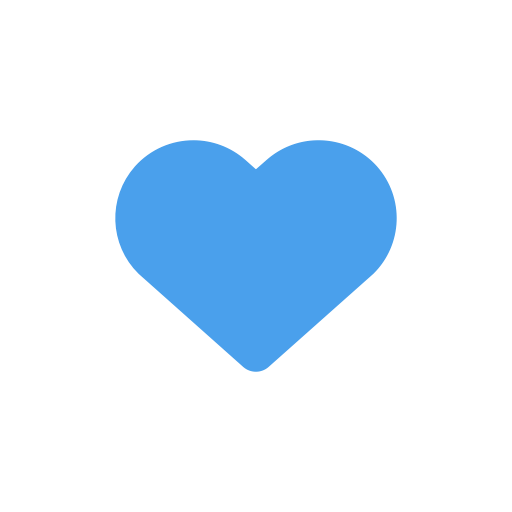 Twitter heart png. Love like icon size