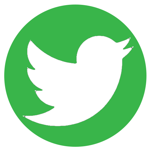 Twitter logo png green. Contact us raw street