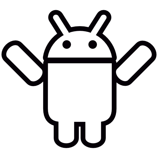 Two arms png. Android with up icon