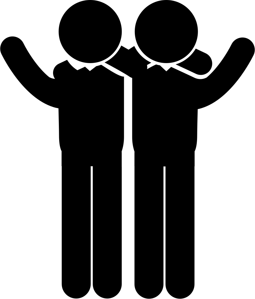 Two arms png. Men side by in