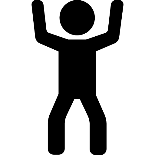 Two arms png. Man raising free people