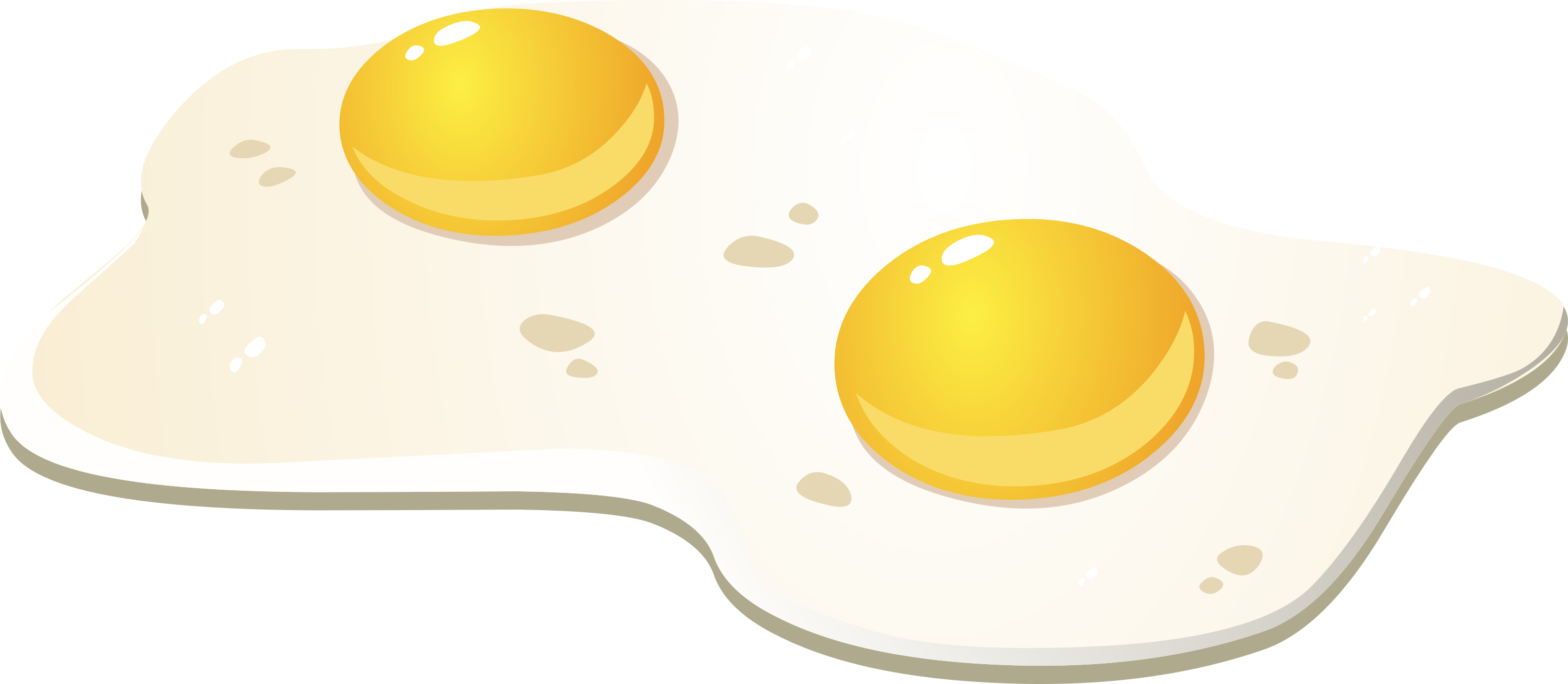 Two eggs png. Fried egg isolated stock