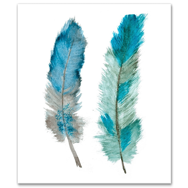 Two feathers png. Of ether canvas print