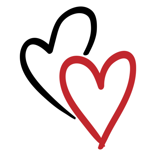 Two hearts png. Sticker transparent svg vector