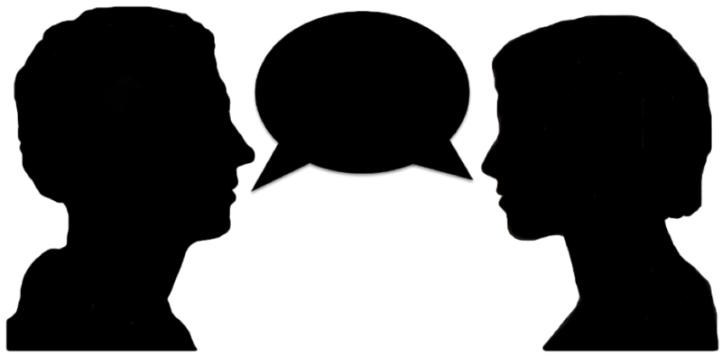 Two people png. Download free talking dlpng