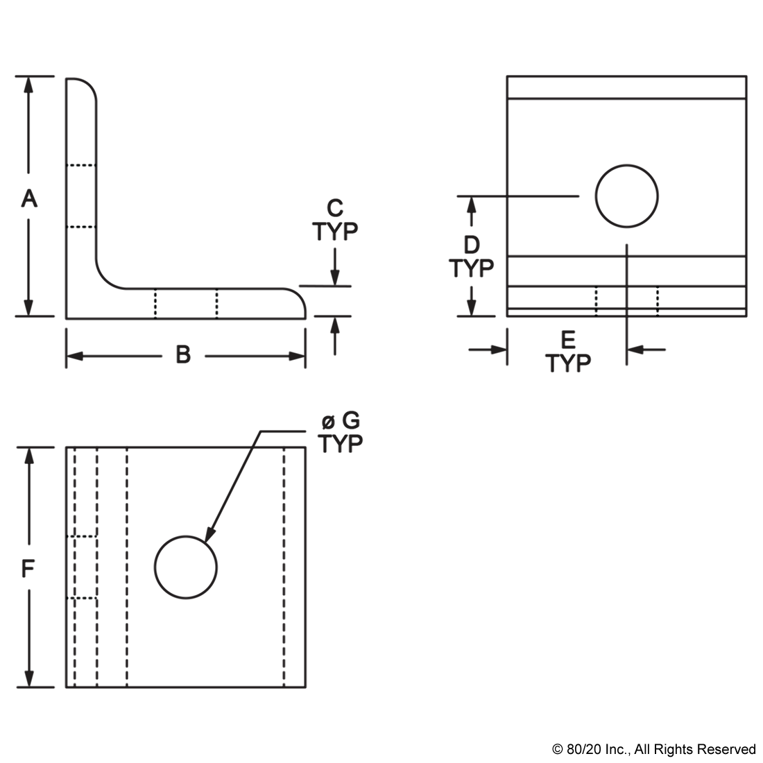 Typ drawing manufacturing. Dimensional
