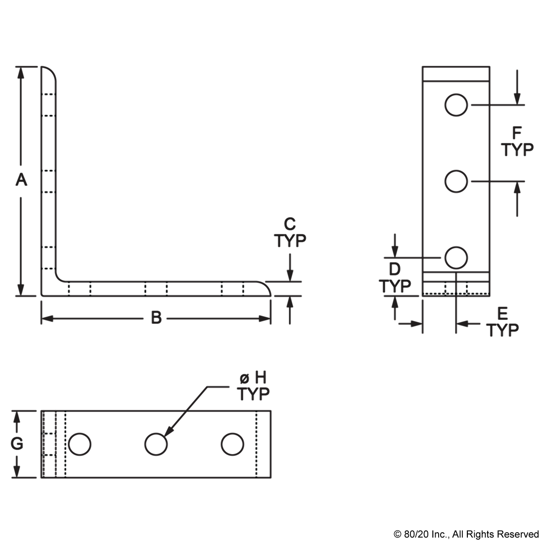 Typ drawing microcontroller. Dimensional