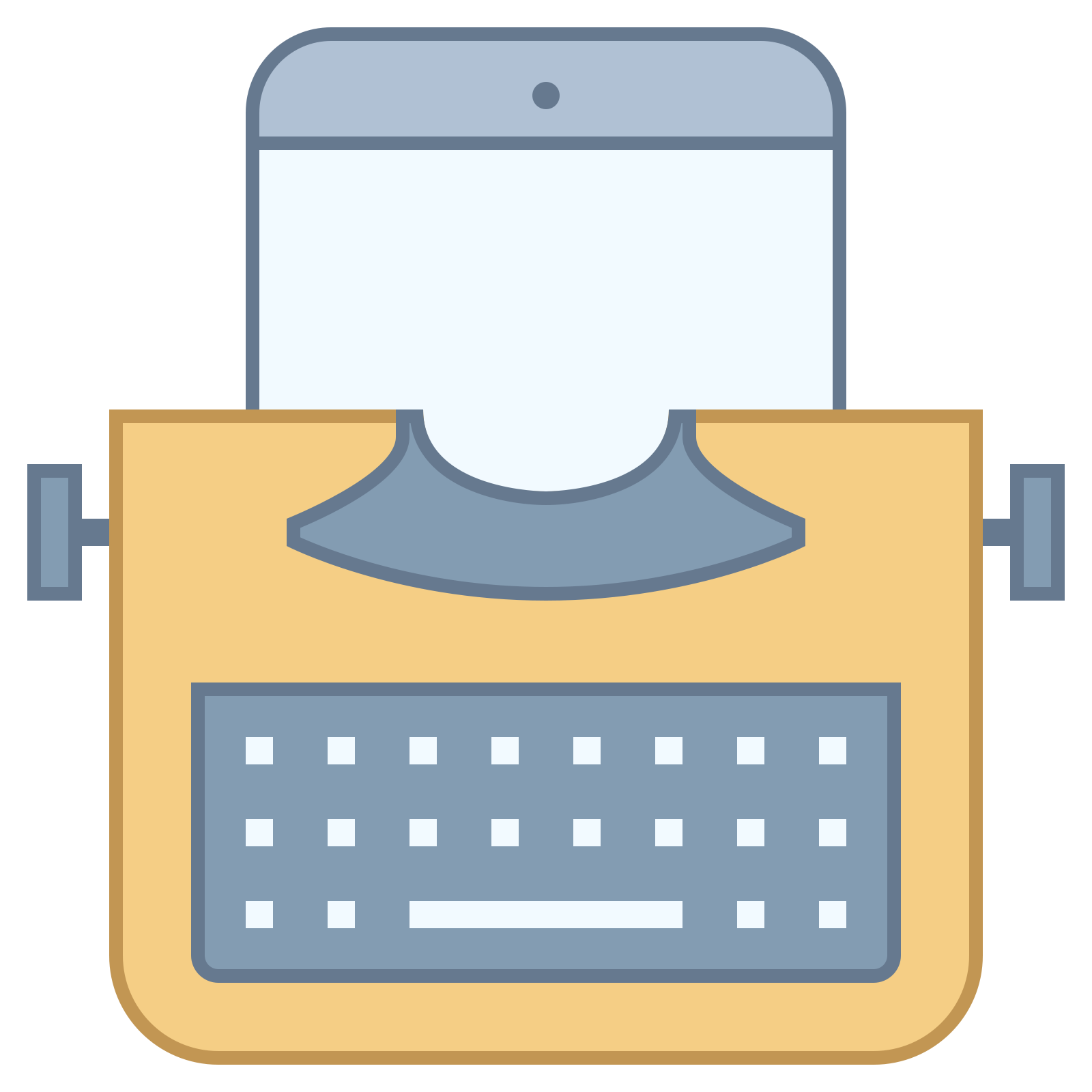 Tab vector infographic. Typewriter with tablet icon