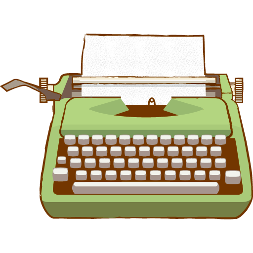 Green clipart transparent stickpng. Vintage typewriter png clip art royalty free stock