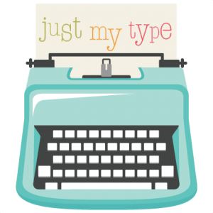 Typewriter clipart silhouette. Just my type svg