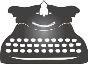 Typewriter clipart silhouette. Best images on
