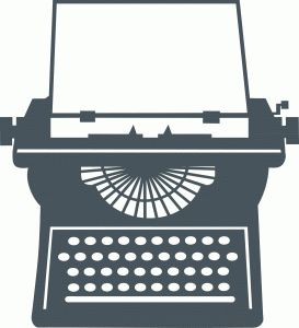 Typewriter clipart silhouette. Best silhouettes images