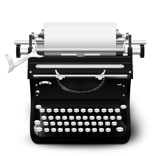 Typewriter vector png. Vintage icon free icons image black and white library