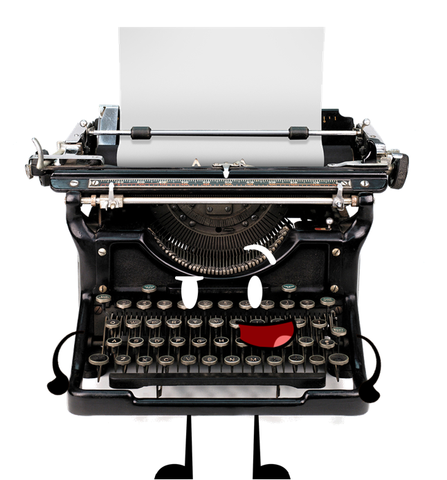 Typewriter png. Image object shows community