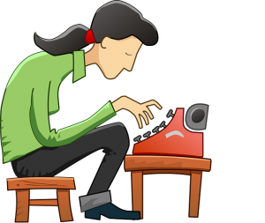 Typing clipart book author. How to write an